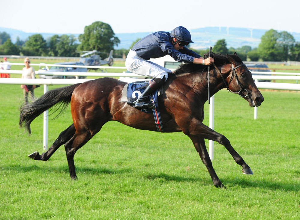No Nay Never's son Land Force on his way to victory in the Listed Coolmore Pride of Dubai Tipperary Stakes.