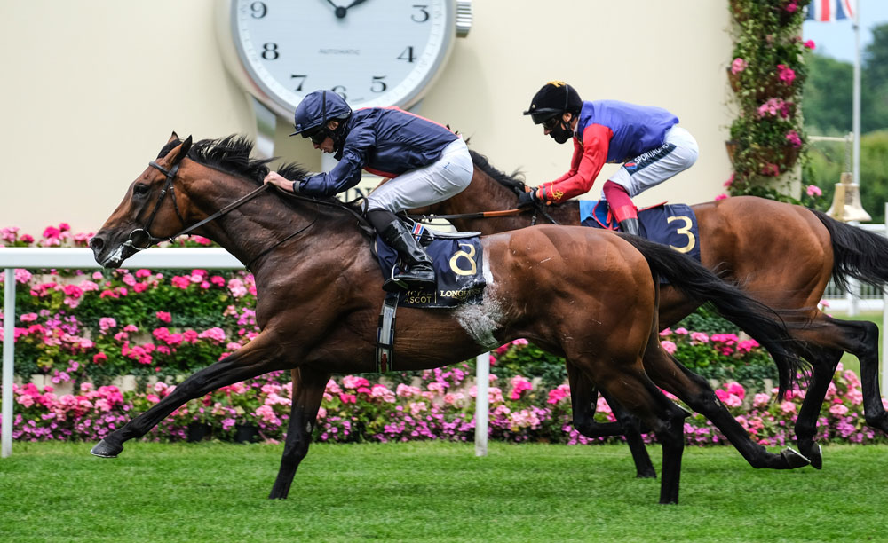 Russian Emperor was never stronger than at the finish when winning the Hampton Court Stakes at Royal Ascot.