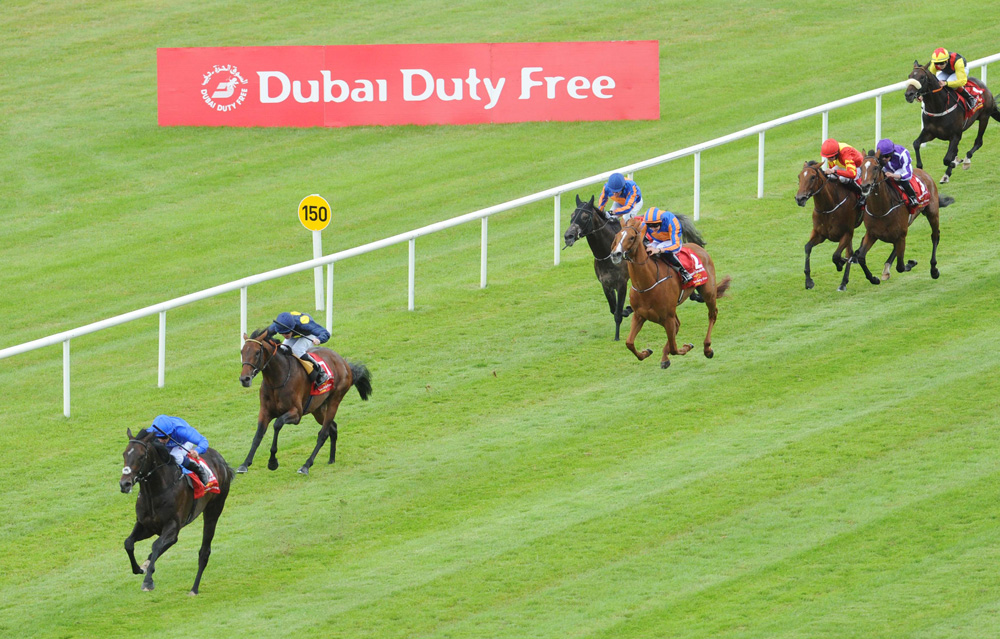 Jack Hobbs, seen here winning the Group 1 Irish Derby, is another exciting new sire at Overbury Stud in Gloucestershire.