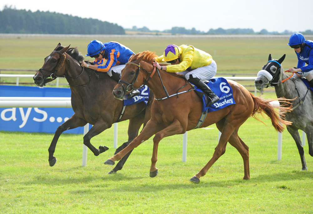 Sea Of Class became Sea The Stars' ninth individual Group 1 winner when landing the Darley Irish Oaks.