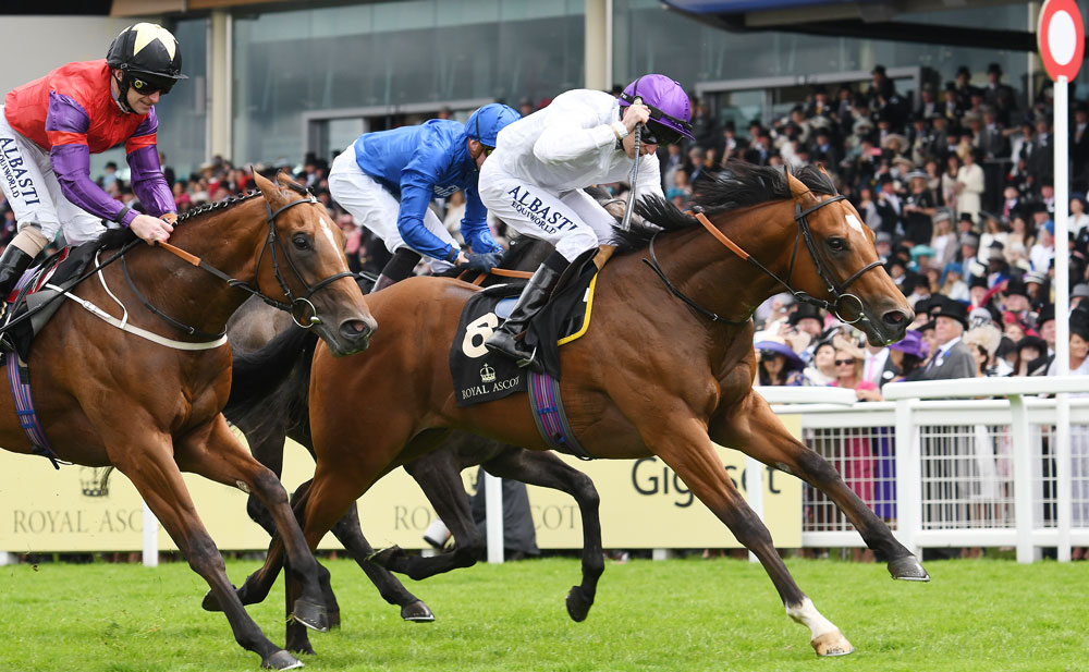 Kodiac's son Prince of Lir, who was sold for £170,000 at the Goffs UK Doncaster Breeze-Up Sale in 2016, wins the Group 2 Norfolk Stakes at Royal Ascot.